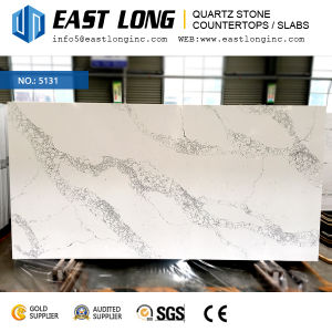 3200*1600mm Calacatta Quartz Stone Countertops for Kitchentops/Engineered Stones with Marble Vein (SGS/CE) pictures & photos