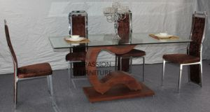 New Designed Modern Glass Dining Table pictures & photos