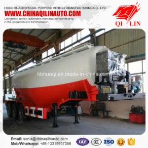 Qilin 3 Axles Compartments Optional Bulk Cement Tanker Semi Trailer for Sale pictures & photos