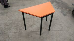 Cheap Colourful Kids Trapezoid Table Children Furniture pictures & photos
