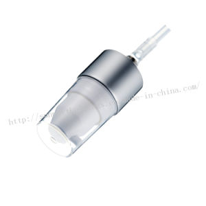 24410 Shiny Light Sliver Cream Pump for Cosmetic Packaging pictures & photos