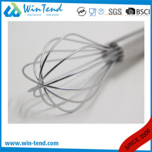 Commercial Stainless Steel Heavy Stiff Wire Kitchen Egg Whisk with Hook pictures & photos
