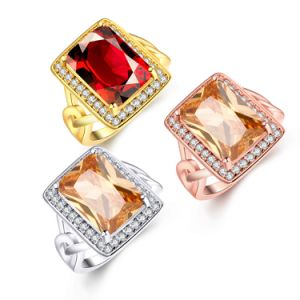 Elegant Ring for Women Gold Plated Zircon Wedding Jewelry pictures & photos