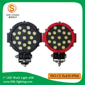 Cheap 7 Inch 51W LED Work Light IP67 Super Bright 6000K for Trucks Customizable pictures & photos