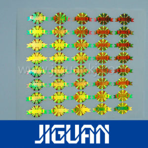 DOT Matrix Golden Holographic Sticker pictures & photos