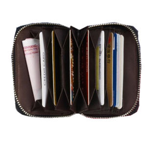 Zipper Leather Credit Card Case Card Holder Wallet pictures & photos