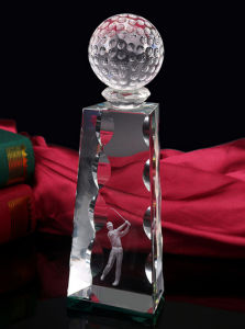 Crystal Award with Custom Logo pictures & photos