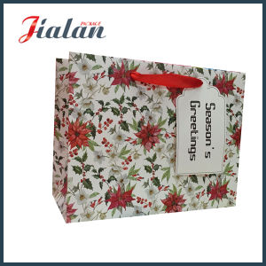 Red Dots Custom Ribbon Bow Wholesales Paper Clothes Shopping Bags pictures & photos
