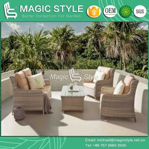 Patio Sofa with Cushion Wicker Combination Sofa Set Outdoor Sofa Set Rattan 2-Seat Sofa Leisure Sofa for Hotel (Magic Style) pictures & photos