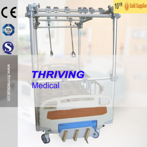 3-Crank Hospital Manual Orthopaedics Traction Bed (THR-TB321) pictures & photos
