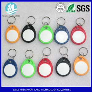 ISO Standard ABS Material T5577 Smart Writable RFID Keyfob pictures & photos