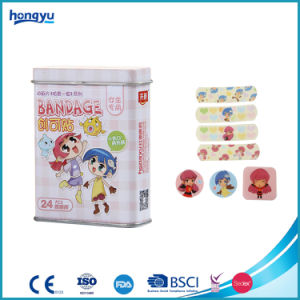 Different Size Cartoon PE Bandage in Tin Box for Kid Care pictures & photos