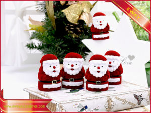 Velvet Ring Box Christmas Jewelry Packing Box pictures & photos