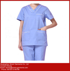 2017 Scrub Suit Designs Wholesale Doctor Uniform Medical Scrubs China (H22) pictures & photos