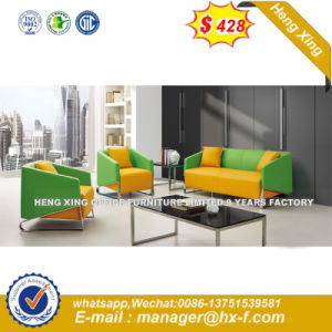 Modern Europe Design Steel Metal Leather Waiting Office Sofa (HX-S345) pictures & photos