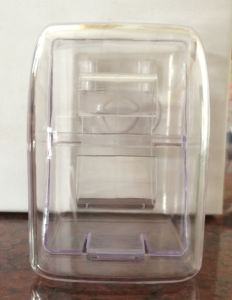 Small Size Front Round Front Upright Transparent Watch Plastic Box pictures & photos
