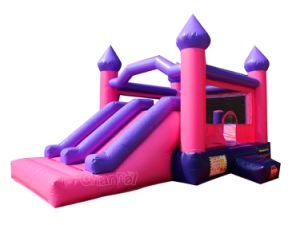 Pink Inflatable Bouncy Castle Combo Chb573 pictures & photos