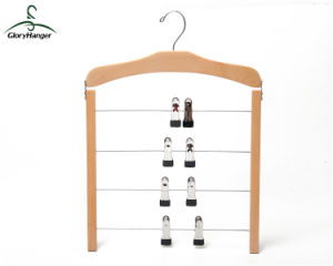 Nature Painting Wooden Hanger for Pants / Towel (GLHH103) pictures & photos