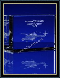 Crystal 3D Laser Etched Helicopter for Airforce Souvenir Gift pictures & photos