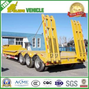 3 Axles Lower Loading Deck Transport Crane Trailer pictures & photos