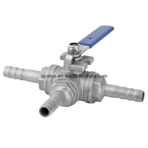 CE Stainless Steel 3 Way Ball Valve pictures & photos