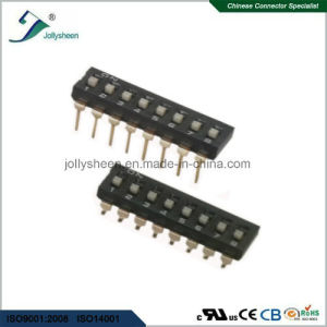 DIP Switch Pitch 2.54mm  Bottom  Button 8p SMD Type. pictures & photos