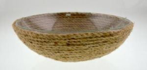 Glass Bowl with Hemp Rope Pad pictures & photos
