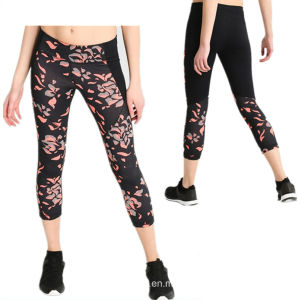 3/4 Length Fitness Gym Pants Workout Yoga Tight Fit Running Pants for Women pictures & photos