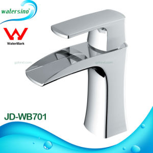 Gold and White Plated Dual Handle 3holes Basin Mixer Tap pictures & photos