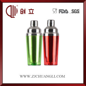 450ml Colorful Double Wall Stainless Steel and Plastic Cocktail Shaker