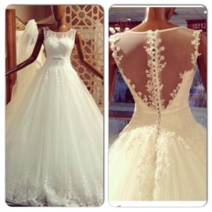 Lace Tulle Bridal Wedding Dress Fashion Vestidos Ball Gown Wedding Gowns Ld11525 pictures & photos
