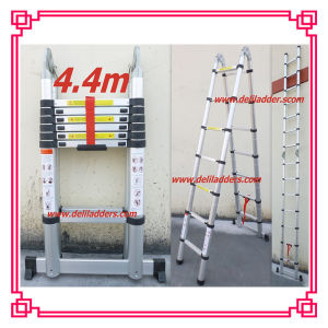 3 Position Telescopic Ladder 4.4m/Triple Aluminum Ladder pictures & photos