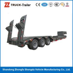 BPW Axles and 28t Jost Kinpin Low Plantform Semi Trailer with Black Colour