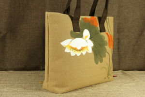 2016 Eco Friendly Tote Jute Bags with Zipper Closure (FLY-FB20012) pictures & photos