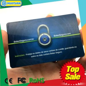 HUAYUAN Anti Hacking Credit Card Protection RFID Blocking Card pictures & photos