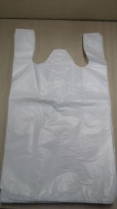 HDPE White T-Shirt Bag pictures & photos