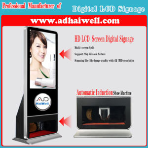 Hot Sale Air Port Hotel Lobby LCD Advertising Display Shoe Polishing Machine Digital Signage pictures & photos