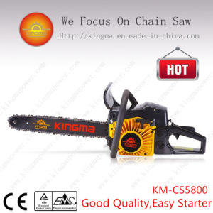 5800 Gas-Powered Chain Saw with 45.2mm Cylinder and 58cc Displacement