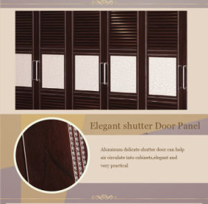 2017 New Fashion Wooden PVC Wardrobe with Glass (zy-019) pictures & photos