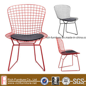 Chromed/Painted in Black/Red/White Harry Bertoia Wire Chair/Wronght Iron Dining Chair pictures & photos