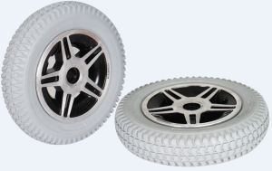 PU Filled Rubber Wheelchair Wheel pictures & photos