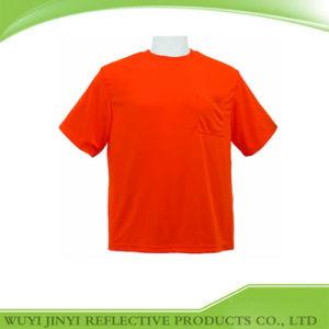 Orange Men Short Sleeve Shirt with Chest Pocket