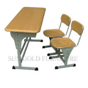 High School Student Double Desk and Chair Furniture (SZ-SF19) pictures & photos