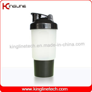 500ml Plastic Protein Shaker Bottle with 1 Compartment and Net (KL-7023) pictures & photos