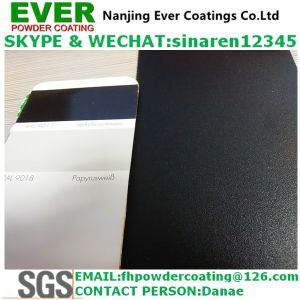 Sand Texture Glossy 80% Traffic Balck Color Ral9017 Powder Coating pictures & photos