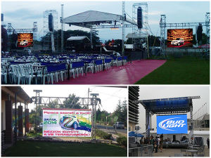 Aluminum Cabinet 640*640mm Outdoor Rental LED Display Board pictures & photos