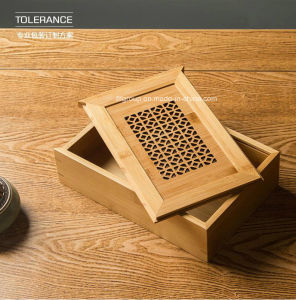 Hot Sale Round Shape Portable Wooden Wine Box with Handle pictures & photos