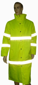 High Visibility Safety Reflective Long Coat pictures & photos