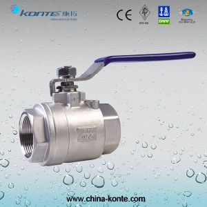 Stainless Steel 2PC Threaded Ball Valve pictures & photos