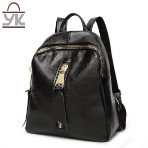 Special Big Zip Style PU Leather Fashion Women Backpack pictures & photos
